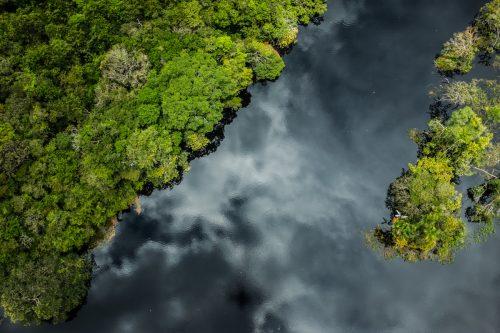 Imagen aérea del río Tapajós en Pará