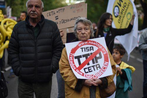 manifestación TTIP
