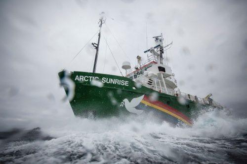 Arctic Sunrise uno de los barcos de Greenpeace