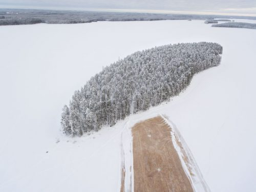 Vista aérea del Gran Bosque del Norte en Finlandia