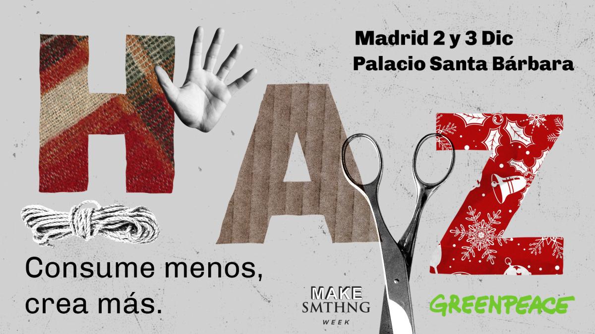 Cartel anunciador de las Jornadas Haz. Madrid, 2 y 3 de diciembre