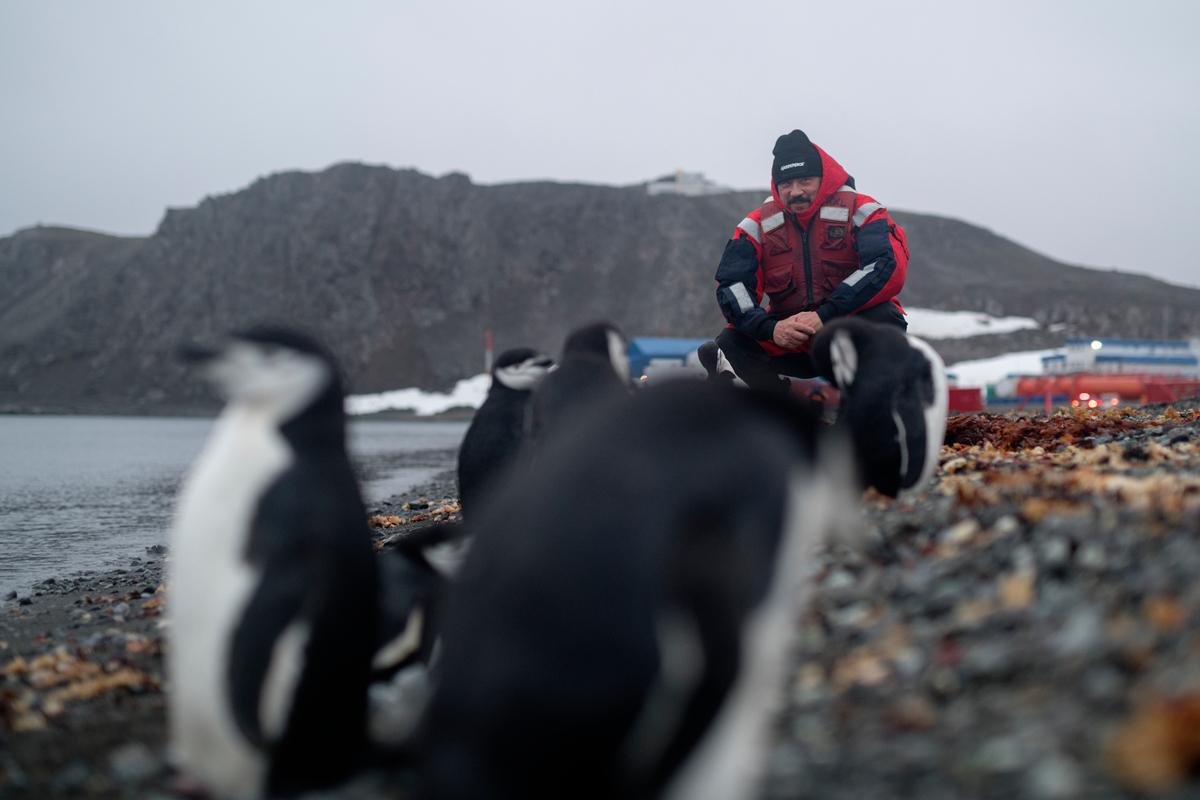 Carlos Bardem en la Antártida