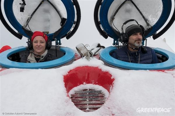 Científicos a bordo del Arctic en la Antártida
