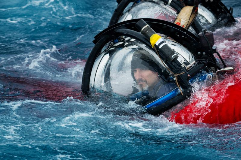 John Hocevar en una de sus immersiones.