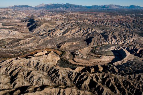 Desierto de los Coloraos en Gorafe, Río Guadiana Menor, Gran