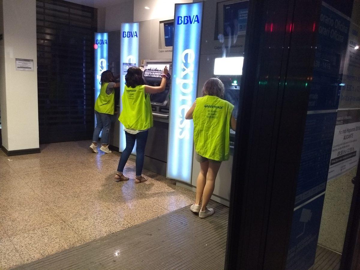 Actividad en Alicante en los cajeros de BBVA