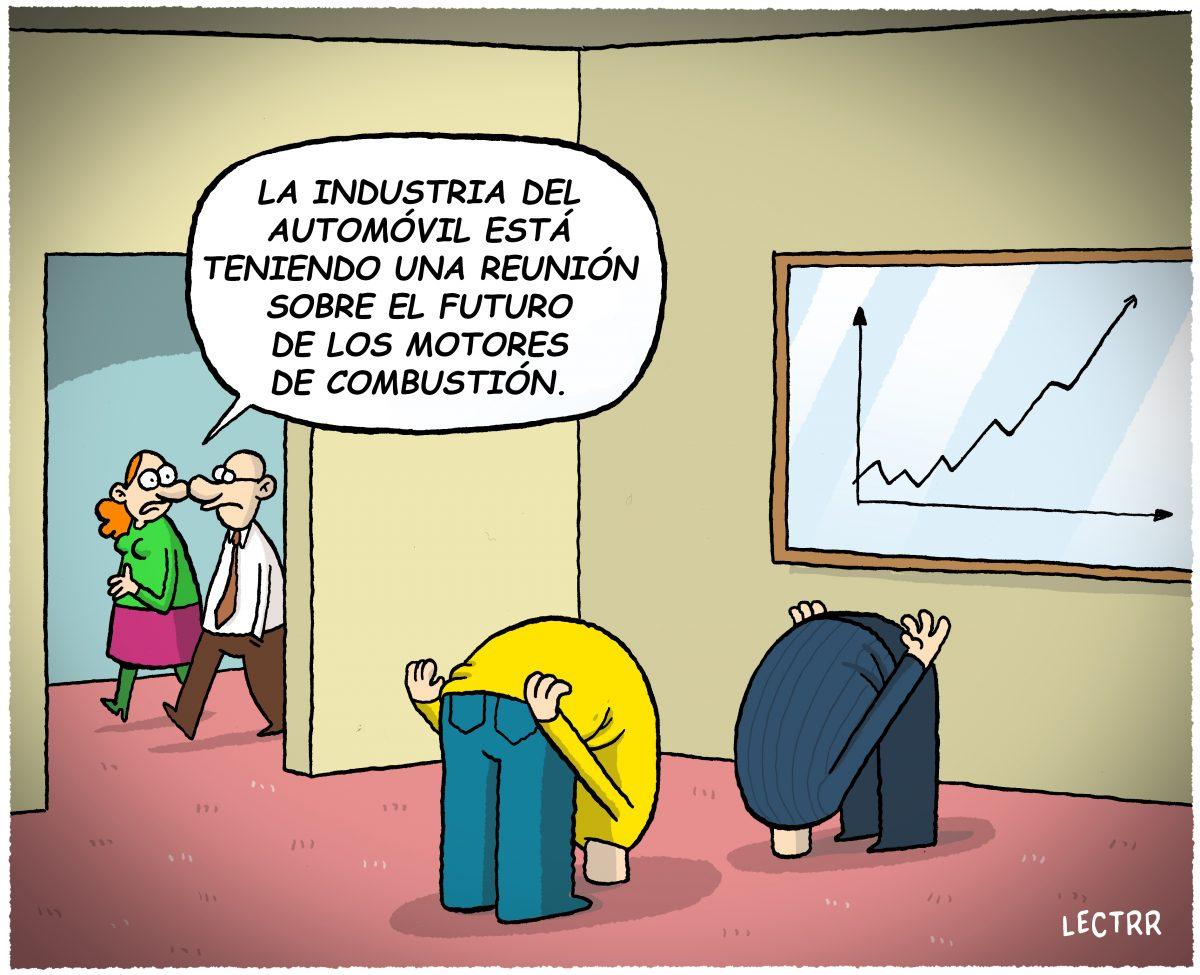 Viñeta humorística sobre la industria del autimóvil