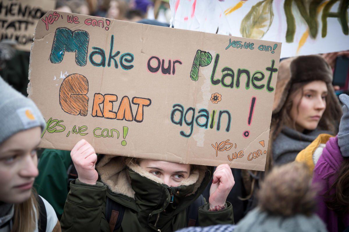 Huelga de estudiantes por el clima en Berlín