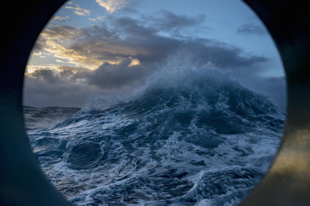 El pasaje de Drake visto desde el Artic Sunrise