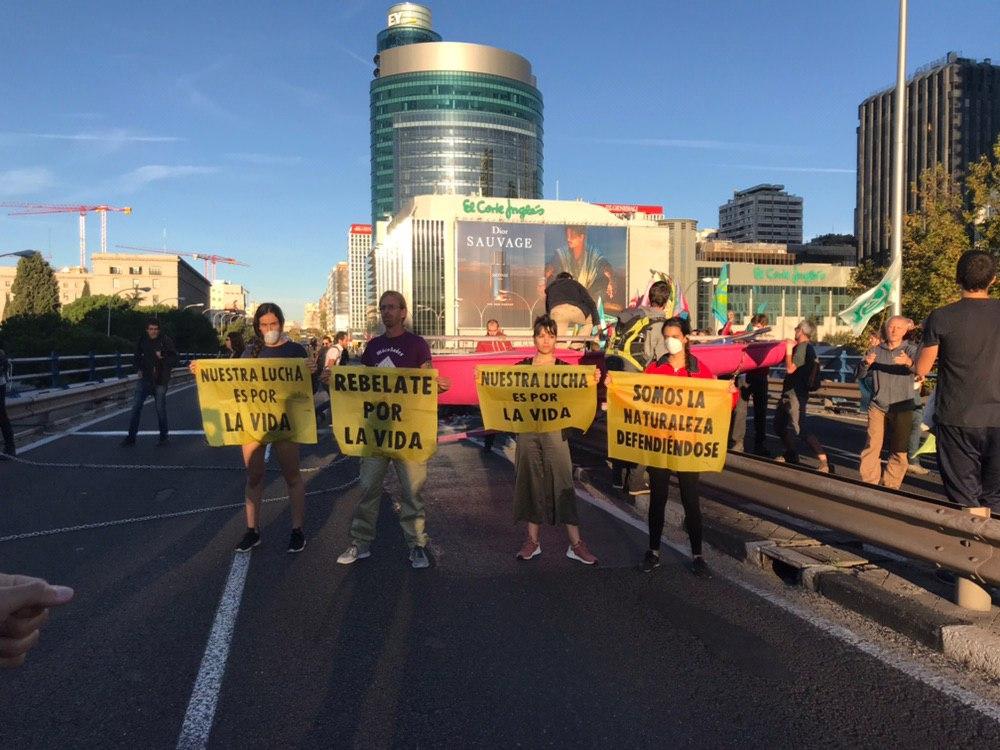 Activistas por el clima en Nuevos Ministerios