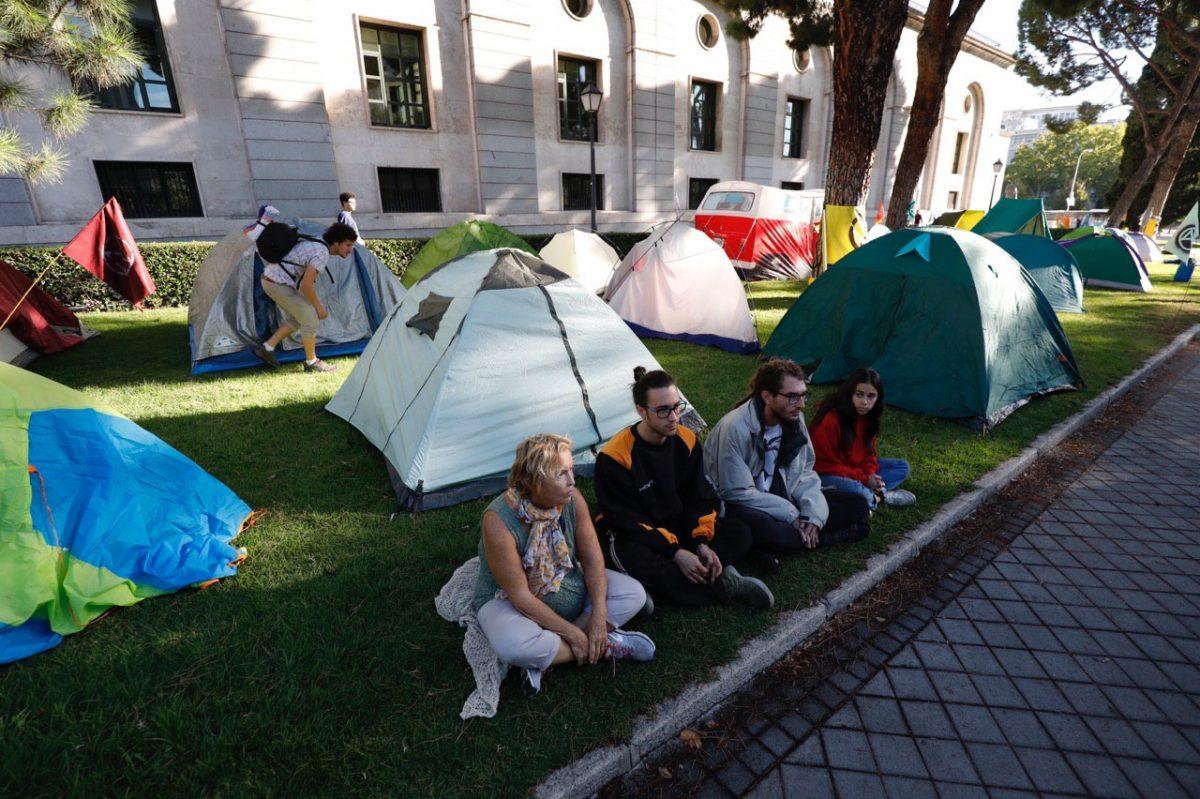 Protesta por el clima en Nuevos Ministerios