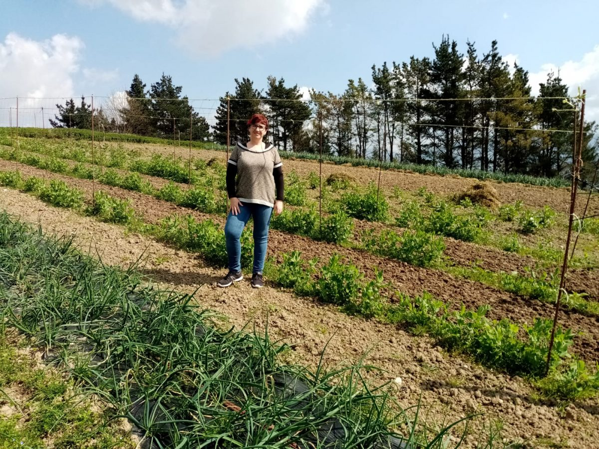 Begoña Aristi, agricultora en Tolosa