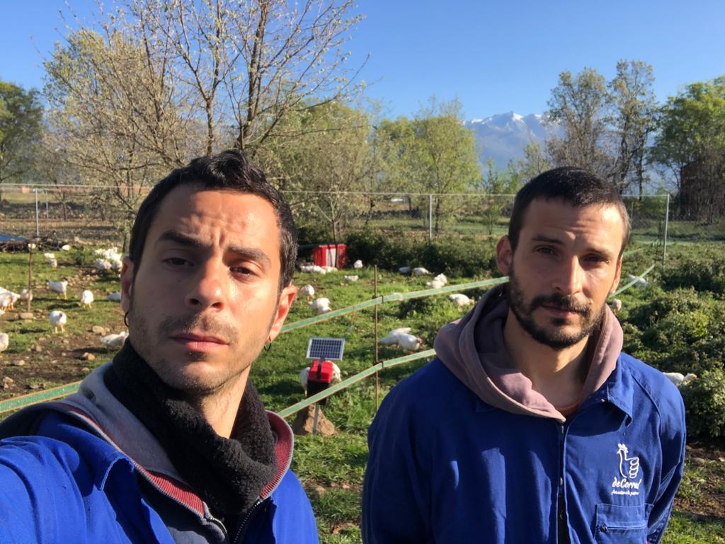 Alberto y Álvaro, de la granja deCorral