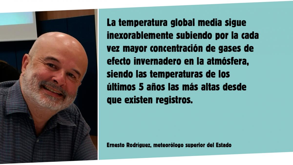 el meteorólogo Ernesto Rodríguez