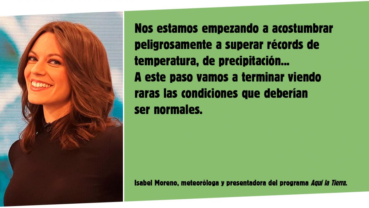 La meteoróloga Isabel Moreno