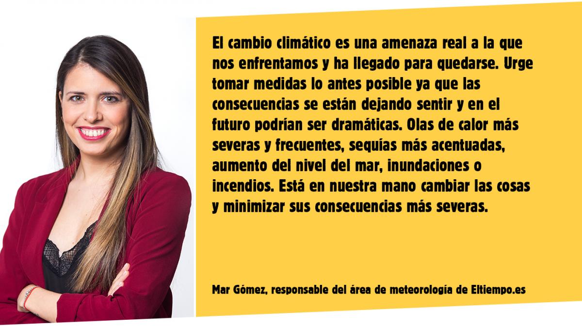 La meteoróloga Mar Gómez