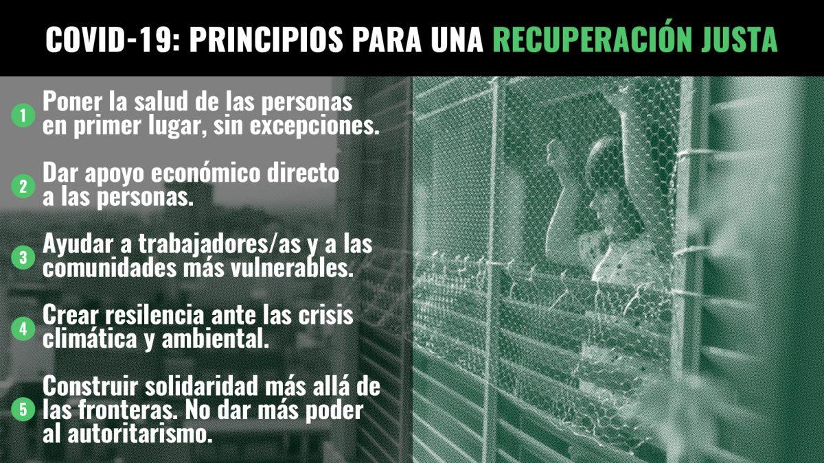 COVID-19: Una recuperación justa para las personas y el medioambiente - ES  | Greenpeace España