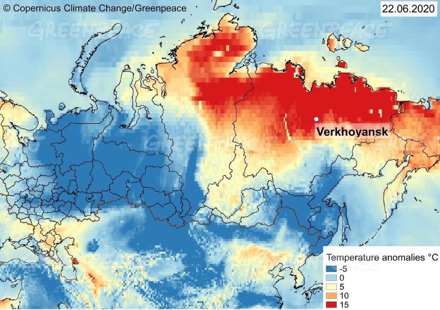 Ola de calor en Siberia 2020