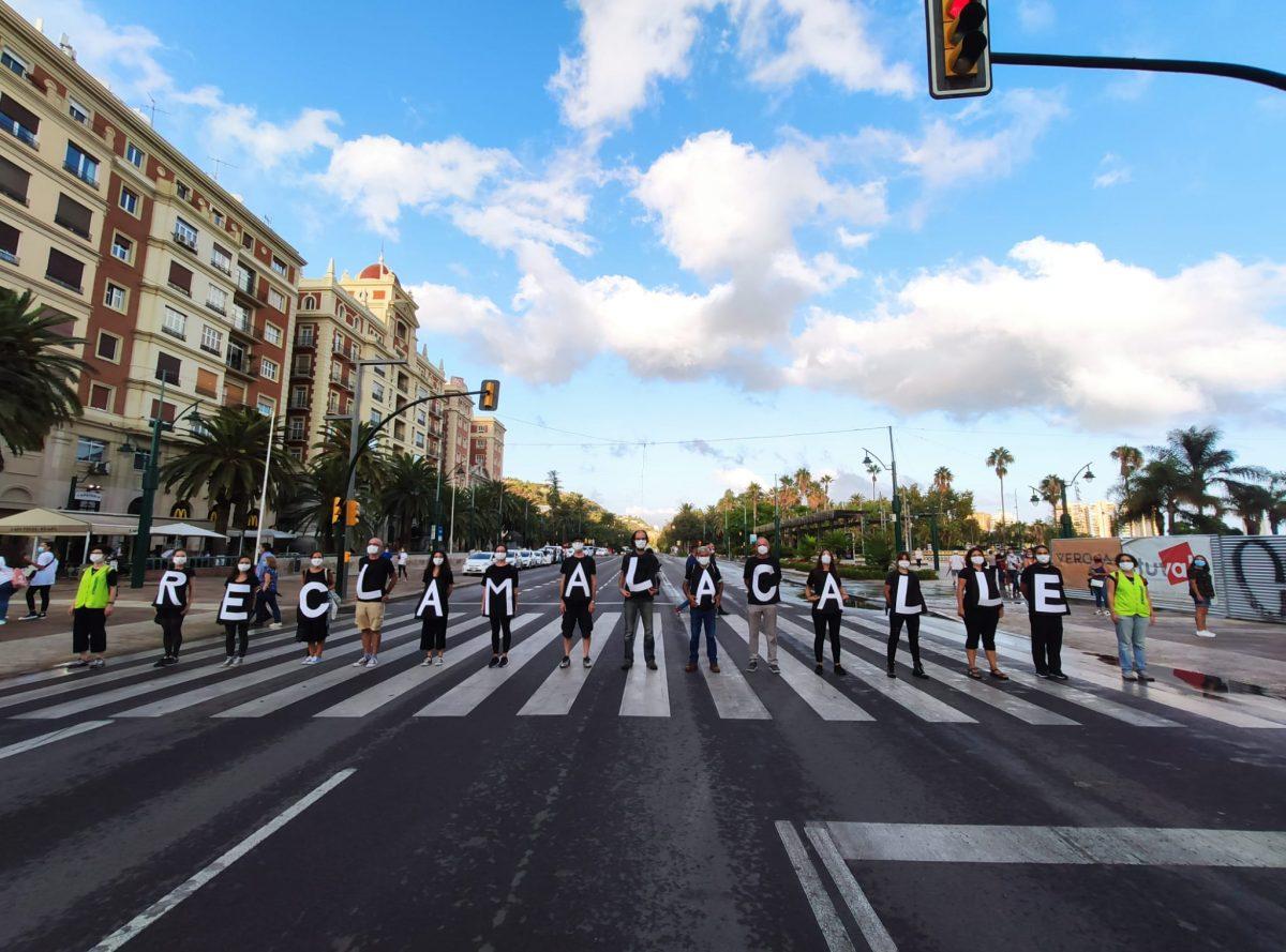 Actividad de movilidad sostenible en la ciudad de Málaga