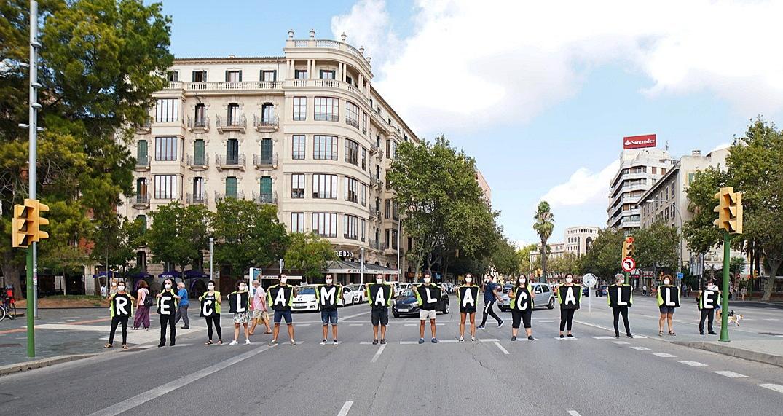 Voluntarios en Mallorca en la Semana Europea de la Movilidad