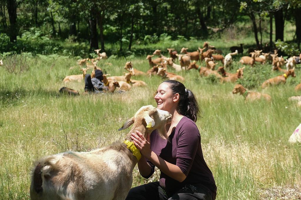 Laura Martínez es ganadera ecológica.