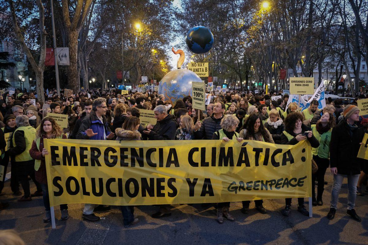 Marcha por el clima, COP 25. ©Greenpeace/Pedro Armestre