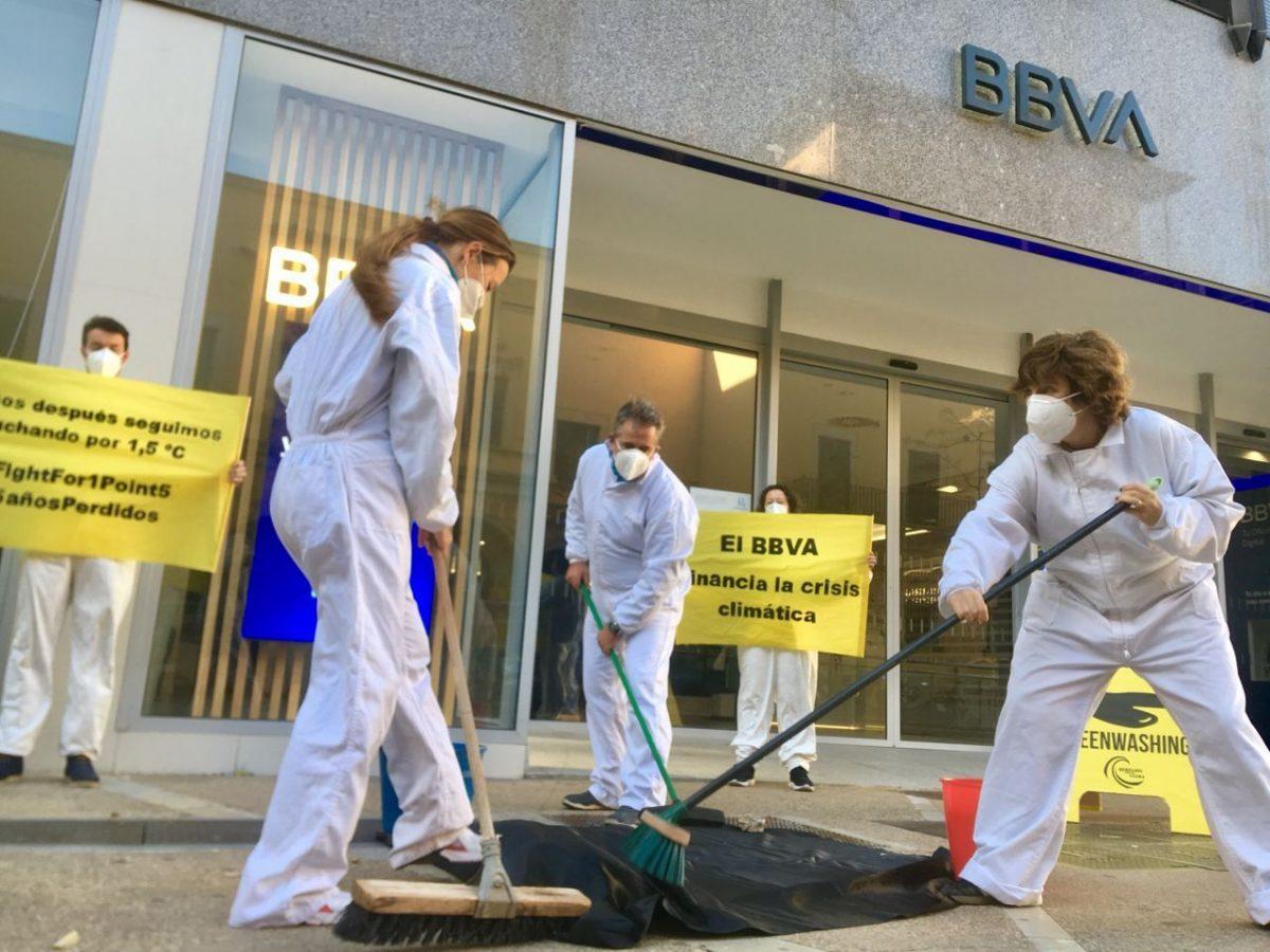 Protesta en BBVA en Baleares