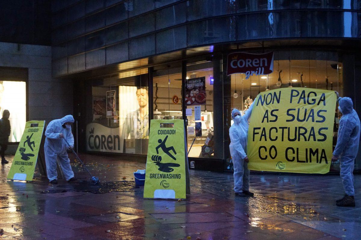 Protesta en Coren en Pontevedra