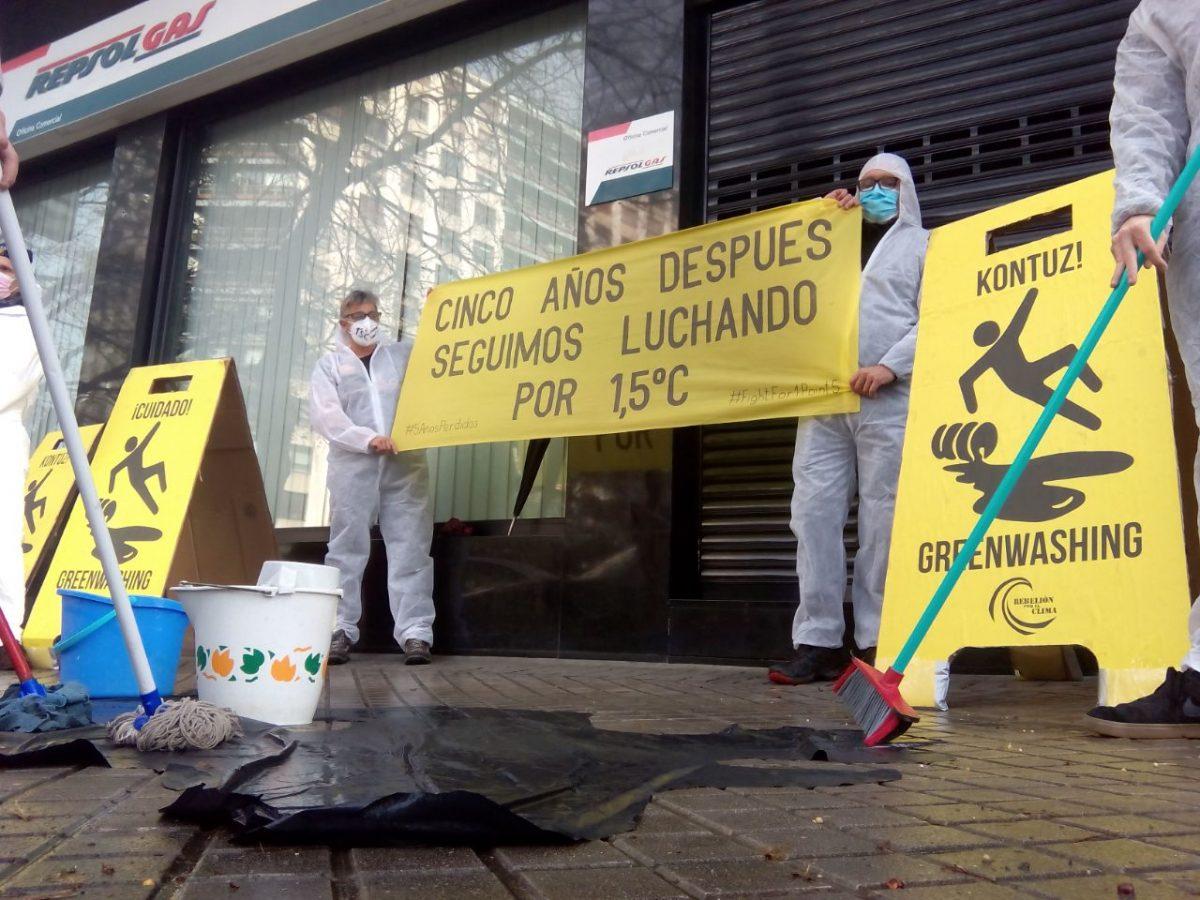 Protesta en Repsol en Pamplona