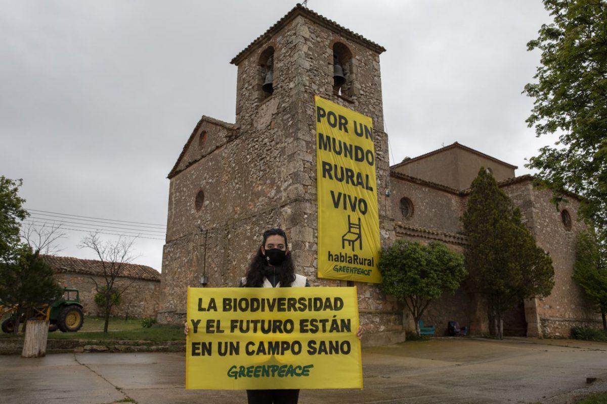 Acción por un mundo rural vivo en Castejón del Campo, Soria. FOTO: Pablo Blázquez Domínguez