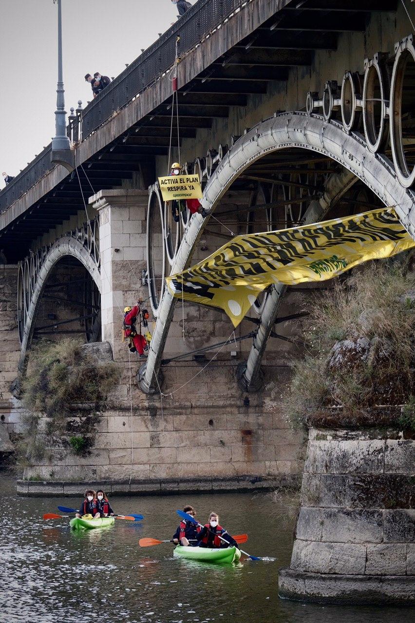 Reclamamos YA el Plan Respira parar Sevilla. Foto: Pedro Armestre
