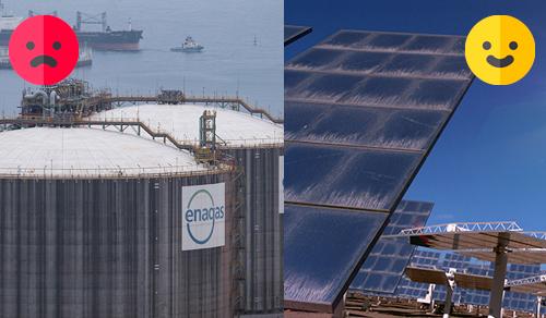 energia fosil contra energia renovable
